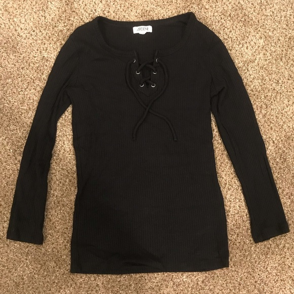Ardene Tops - New ribbed lace up top
